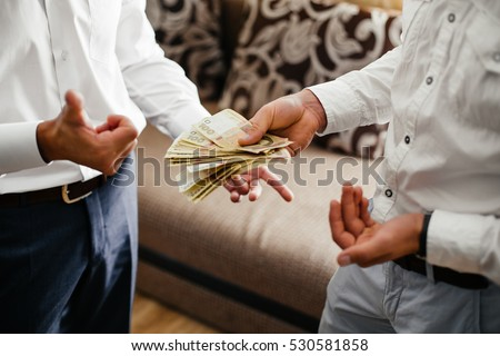 friends counting money