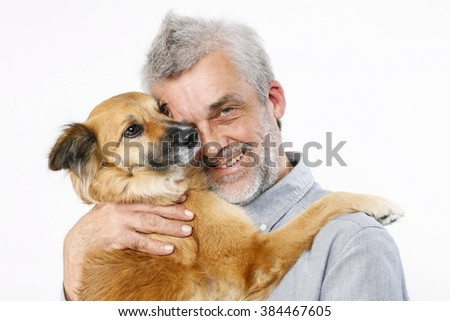 Friends forever: man and his lovely dog