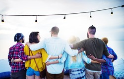 Friends Friendship Group Hug Relationship Concept