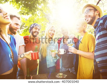 Friends Friendship Leisure Vacation Togetherness Fun Concept #407001040