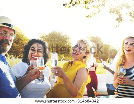 Friends Friendship Party Hanging out Concept #314684342