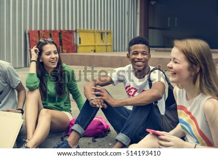 Friends Hipster Teenager Buddies Concept #514193410