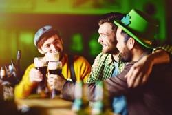 Friends in Irish Bar
