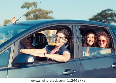 Friends Ready for Vacations - stock photo
