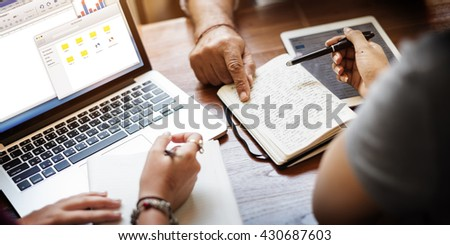 Friends Working Discussion Meeting Sharing Ideas Concept - Shutterstock ID 430687603