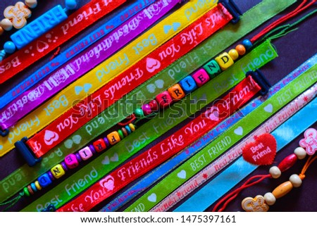 Friendship bands on friendship day  #1475397161
