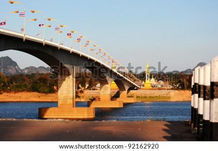 Friendship bridge Thailand-Lao