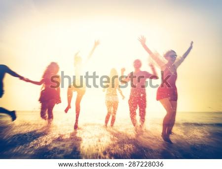 Friendship Freedom Beach Summer Holiday Concept #287228036
