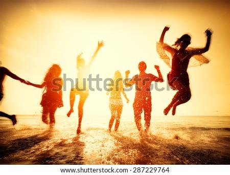 Friendship Freedom Beach Summer Holiday Concept #287229764