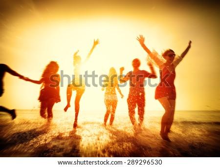 Friendship Freedom Beach Summer Holiday Concept #289296530