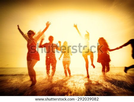 Friendship Freedom Beach Summer Holiday Concept #292039082