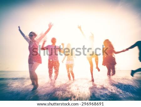 Friendship Freedom Beach Summer Holiday Concept #296968691