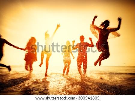 Friendship Freedom Beach Summer Holiday Concept #300541805