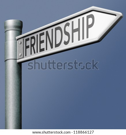 friendship search find online friend road sign arrow indicating way in social network friends button or icon a real or virtual internet connection