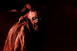 Frightening mask of a devil