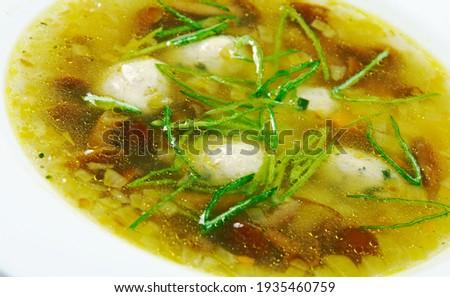 Frikadelu zupa - Latvian Meatball Soup  Zdjęcia stock ©