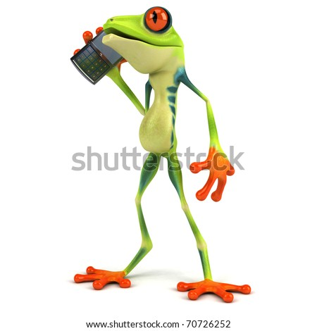 Frog And Mobile Phone Stock Photo 70726252 : Shutterstock