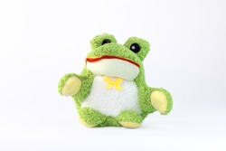 Frog doll isolated on white background