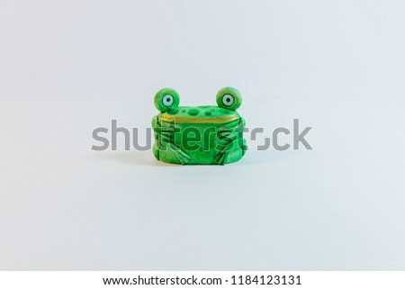 Frog figure. Decorative figure of a frog. #1184123131