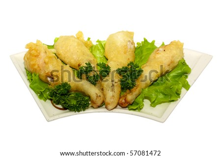 frog legs fried - stock photo