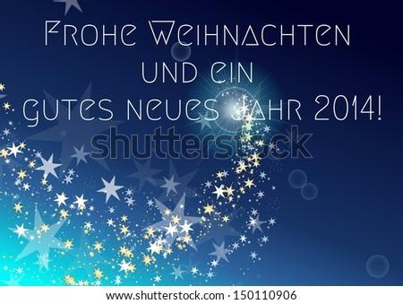 Frohe Weihnachten und ein gutes neues Jahr 2014 - merry christmas and a happy new year 2014 in german Stock foto ©