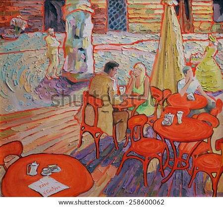 From a series of paintings about cafe