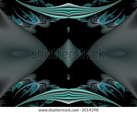 From SCI-FI series Alien Pop Art . Glowing  abstract fractal background featuring alien creativity with splash of vivid colors and optical illusion .