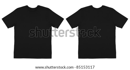Front and Back View of Off Body Black Tshirt