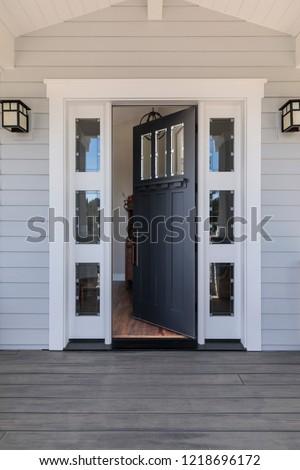 Front black door that is open