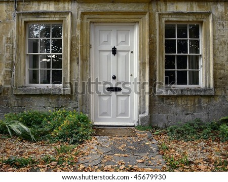 Front Door and Garden Path of a London Town House