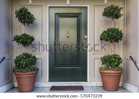 front door  black front door