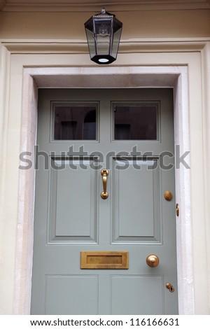 Front Door Exterior Detail of am Attractive Georgian Era London Town House