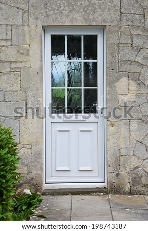 Front Door of a Beautiful English Cottage House