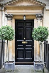 Front Door of a Beautiful Georgian Era English Town House
