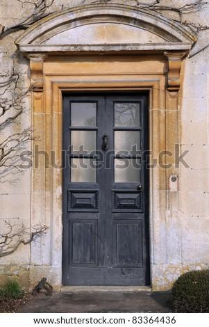 Front Door of a Georgian Era English Manor House