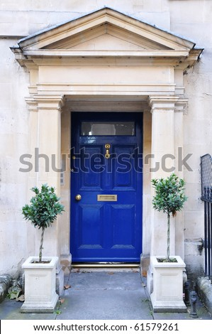 Front Door of a Luxury Georgian Town House