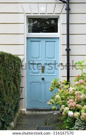 Front Door of an Attractive Georgian Era London Town House