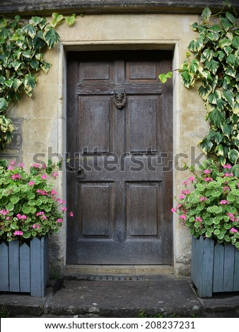 Front Door of an Attractive Old English Cottage