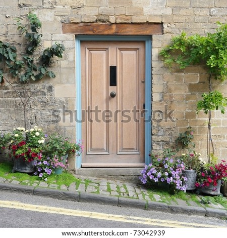 Front Door of an Attractive Traditional English Cottage