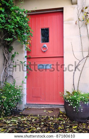 Front Door of an English Cottage