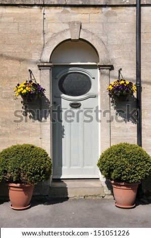 Front Door of an English Town House