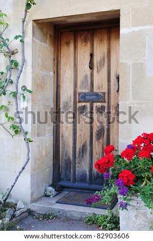 Front Door of an Old English Cottage