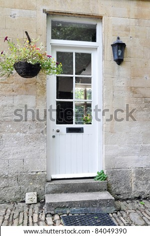 Front Door of an Old English Cottage House