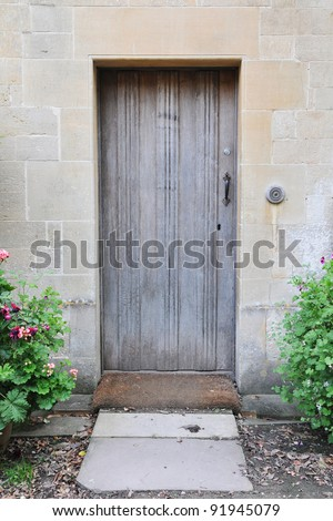 Front Door of an Old Stone Cottage