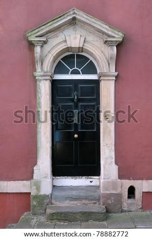 Front Door of Georgian Era Town House in London England