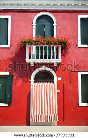 Front door of Home / Old European House / Italy