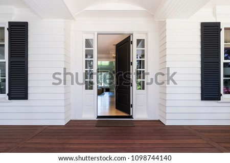 Front Door to traditional style home.