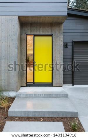 Front door, yellow front door #1401134918