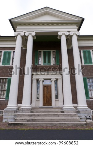 Front entry of  mansion in Waveland State Historic Site . Lexington, Kentucky, USA