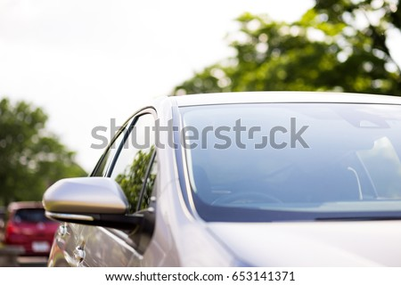 front glass of modern vehicle.